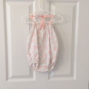 New Baby Girl BEAR HALTER One Piece - 6-12 Months